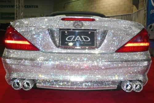 mercedes benz coverd with swarovski