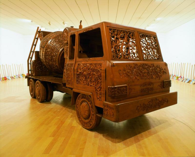construction vehicle in gothic art