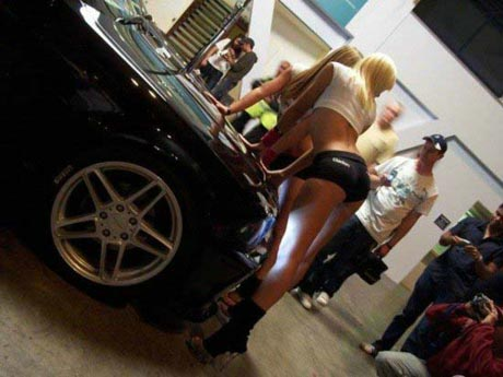 cars and girls. bmw cars and hot girls
