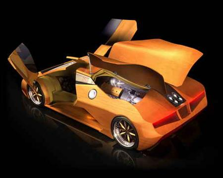 splinter wooden sport car
