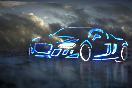 Audi R8 by light graffiti