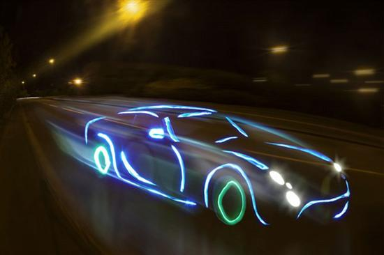 TVR Tuscan by light graffiti