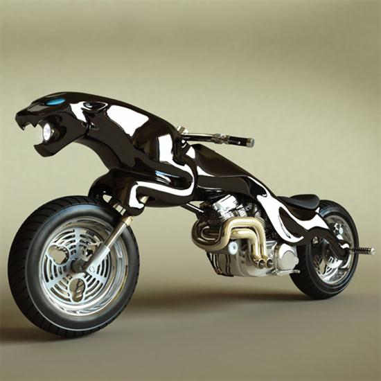 Jaguar and Charging Bull Motorcycles 01