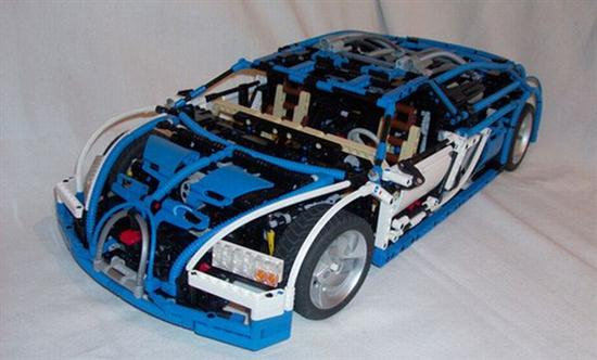 Lego Blocks For Making Bugatti Veyron 01
