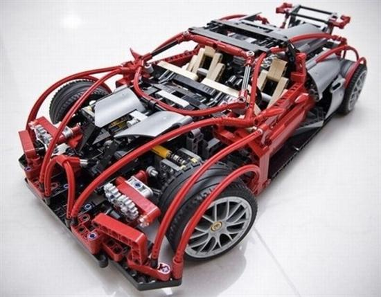 Lego Blocks For Making Bugatti Veyron 03