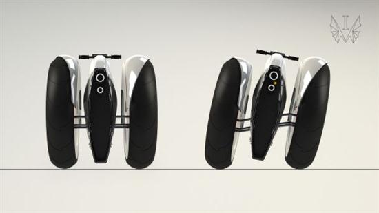 All-electric Monobike Concept Parks Vertically 03