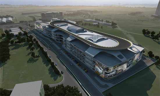 Largest Auto Mall With Test Drive Rooftop Track 01