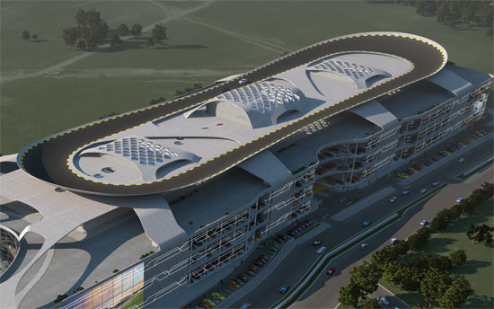 Largest Auto Mall With Test Drive Rooftop Track 02
