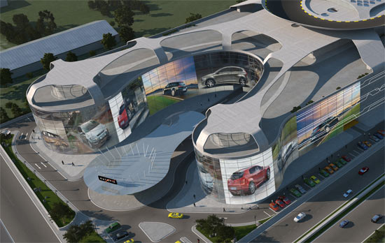 Largest Auto Mall With Test Drive Rooftop Track 03