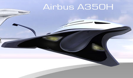 New Vertical TakeOff With A350H Airliner Pwered by Cryogenic Hydrogen 07