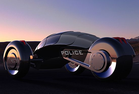 All-electric Robot Police Car 01