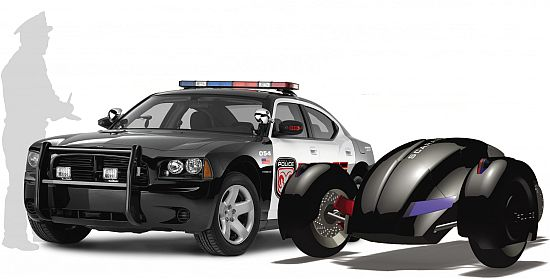 All-electric Robot Police Car 04