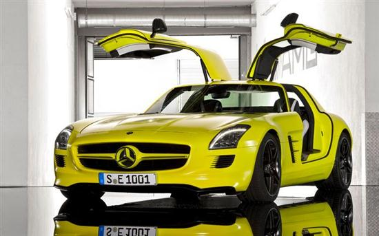 Mercedes-Benz SLS AMG Electric Car Prototype 02