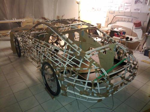 Pedal-Powered Cardboard Porsche - World's Slowest Porsche 02