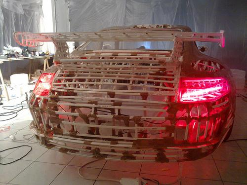 Pedal-Powered Cardboard Porsche - World's Slowest Porsche 04