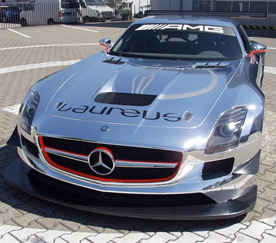 chrome mercedes sls amg gt3 racer cars show. Black Bedroom Furniture Sets. Home Design Ideas