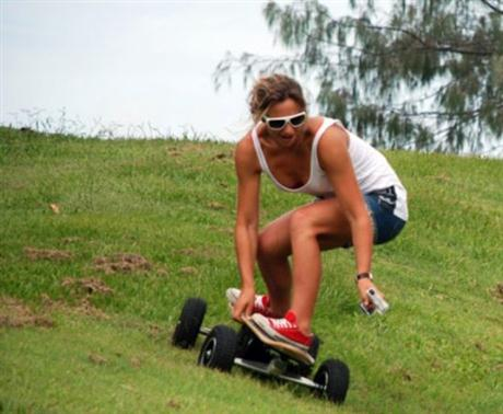 Electric Skateboard with ABS Brakes and Wireless Remote - 01