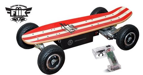 Electric Skateboard with ABS Brakes and Wireless Remote  Cars show