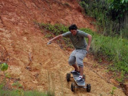 Electric Skateboard with ABS Brakes and Wireless Remote - 03