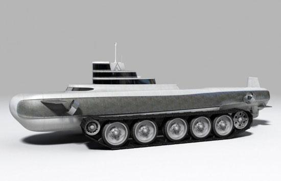 Submarine with Tank - 01