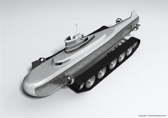 Submarine with Tank - 02