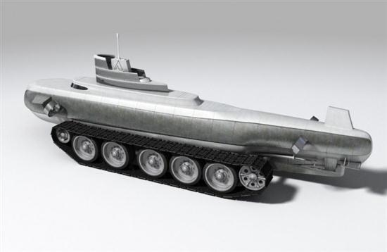 Submarine with Tank - 03