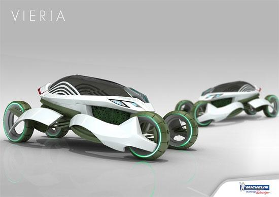 Vieria Concept Vehicle Recycle Air Pollution and Emits Clean Air - 01