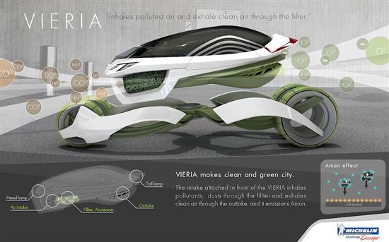 Vieria Concept Vehicle Recycle Air Pollution and Emits Clean Air - 03
