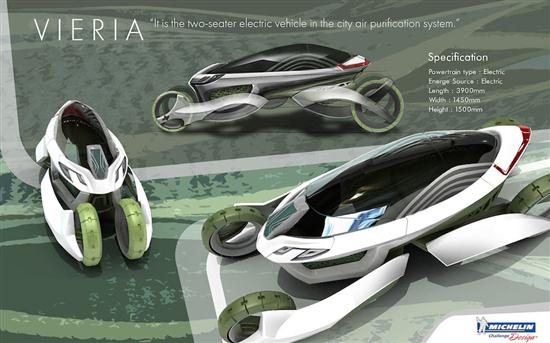 Vieria Concept Vehicle Recycle Air Pollution and Emits Clean Air - 05