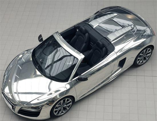 Audi R8 Spyder In Chrome Clothes - 01