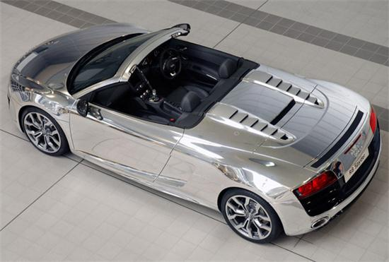 Audi R8 Spyder In Chrome Clothes - 02