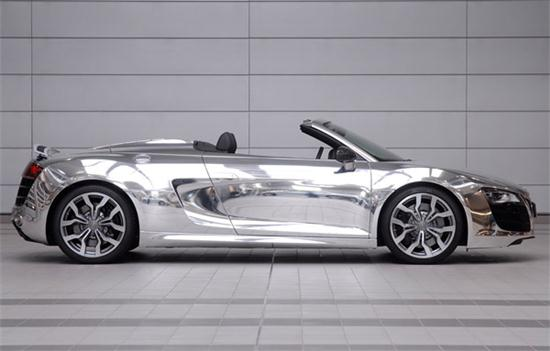 Audi R8 Spyder In Chrome Clothes - 03