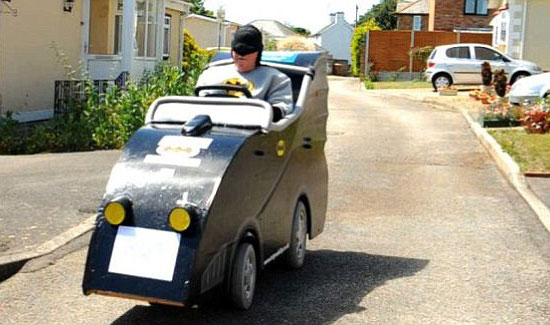 Electric Scooter Converted Into Batmobile - 01