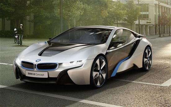 bmw i8 hybrid sports car concept cars show. Black Bedroom Furniture Sets. Home Design Ideas