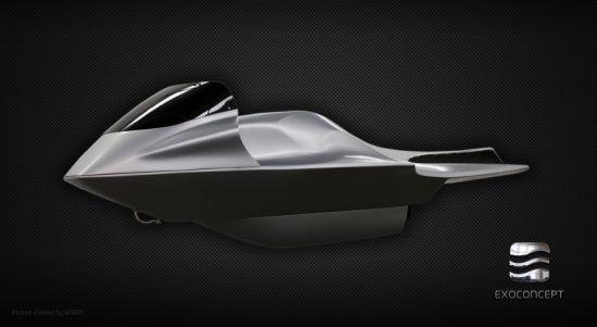 Electric Jet Ski Made of Carbon Fiber - 04