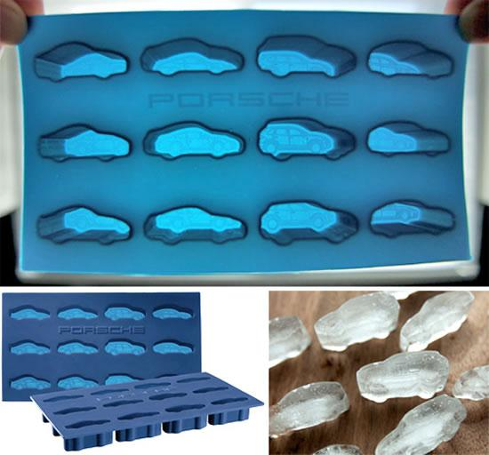 Ice Cube Trays With Porsche Cars - 01