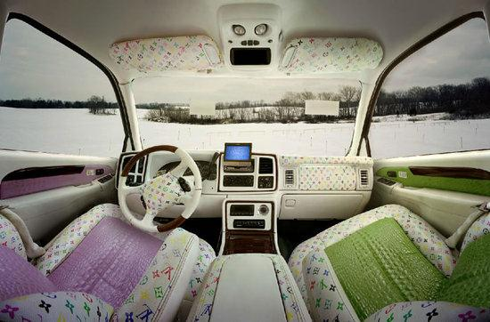 louis vuitton burberry and fendi themed car interiors cars show. Black Bedroom Furniture Sets. Home Design Ideas
