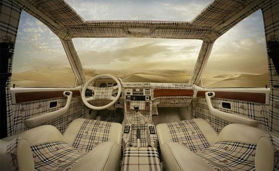 Louis Vuitton, Burberry and Fendi Themed Car Interiors - 02