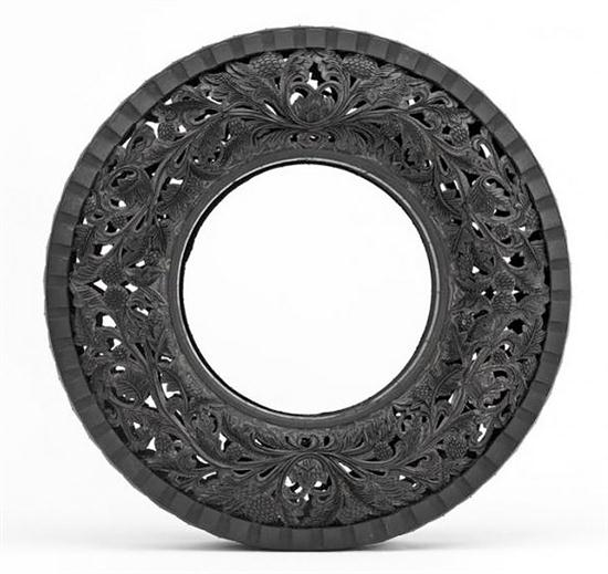 Hand-Carving Car Tires - 01