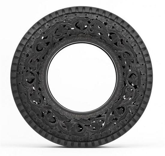 Hand-Carving Car Tires - 05