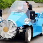 Wind-Powered Electric Car Made in China