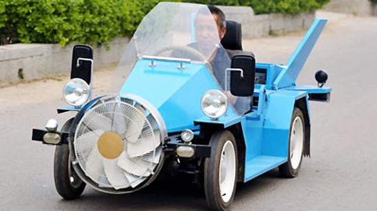 wind powered electric car made in china cars show. Black Bedroom Furniture Sets. Home Design Ideas