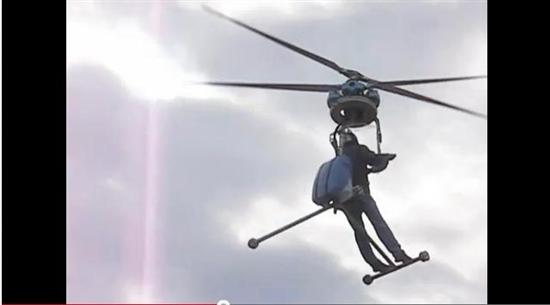 One-Man Helicopter as World's Smallest Helicopter