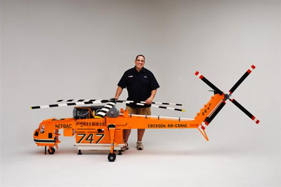 Custom Built LEGO Air Crane Helicopter - 01