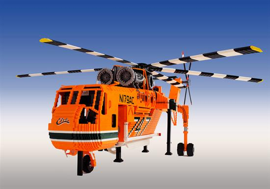 Custom Built LEGO Air Crane Helicopter - 02