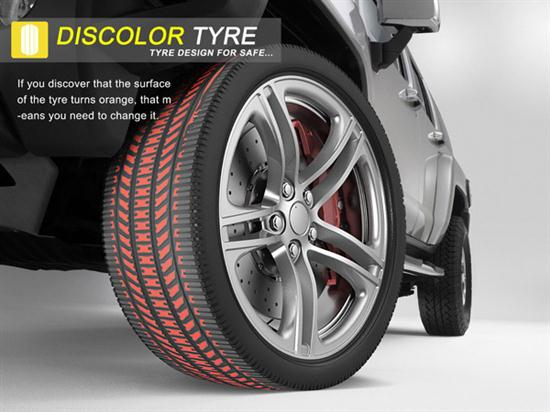 Discolor Safety Tires - 01
