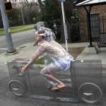 'Invisible' Bicycle, Completely Transparent One