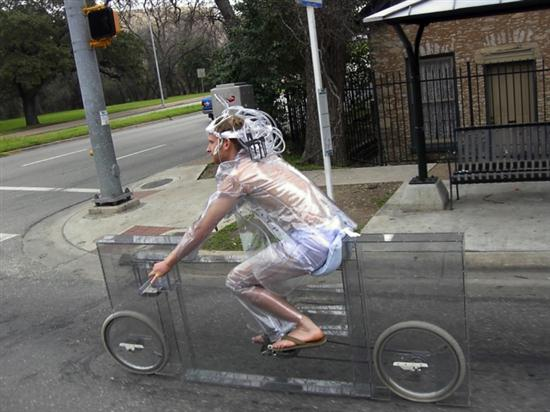 'Invisible' Bicycle, Completely Transparent One - 01
