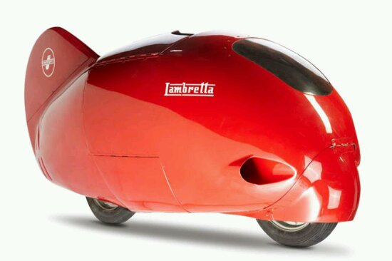 Red Lambretta Hit Speed Record in 1951