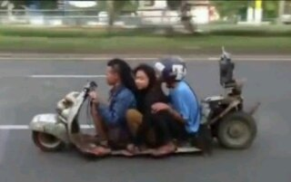 Low Rider Vespa from Thailand